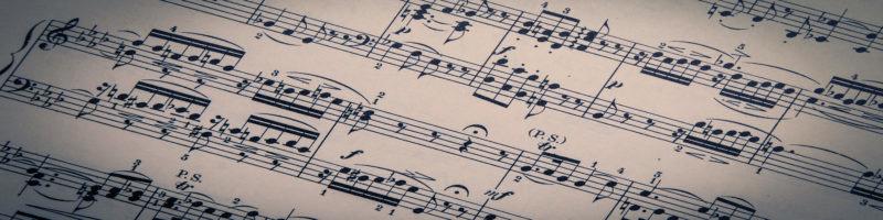 Playing piano and singing